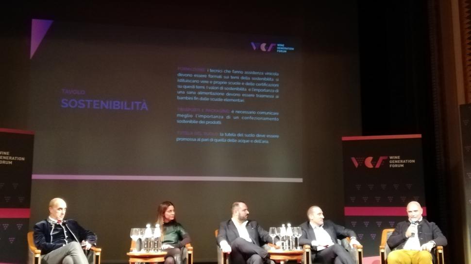 Presentazione del Manifesto dei giovani del vino italiani durante il merano Wine Festival