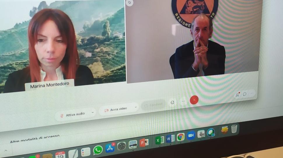 Montedoro e Zaia alla conferenza stampa di presentazione dei tre nuovi consiglieri dell'Associazione per la tutela del Sito Unesco delle Colline del Prosecco di Conegliano e Valdobbiadene